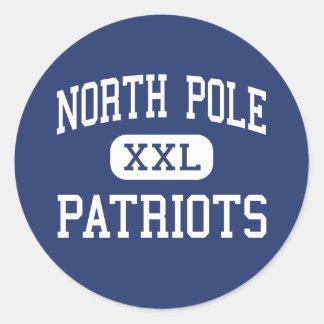 Polo Norte - patriotas - alto - Polo Norte Alaska Pegatinas Redondas