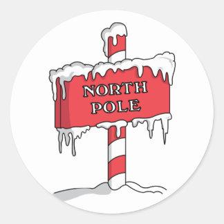 Polo Norte Pegatina Redonda