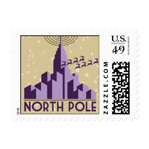 Polo Norte - púrpura y oro Sellos