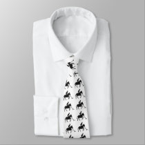 Polo Player in Silhouette Patterned Tie