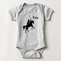 Polo Player on Horse Baby Bodysuit