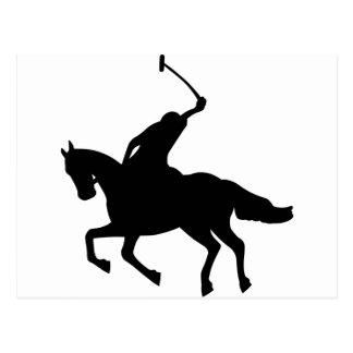 Polo player on horseback. postcard