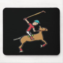 Polo Playing Horse and Rider Mouse Pad