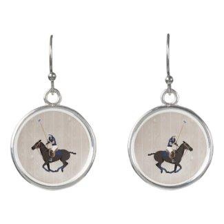 Polo Pony Equestrian Theme Earrings