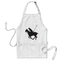 Polo Pony Silhouette Adult Apron