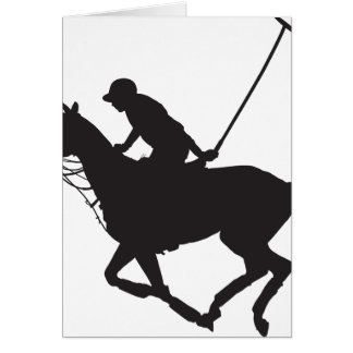 Polo Pony Silhouette Card