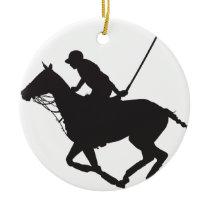 Polo Pony Silhouette Ceramic Ornament