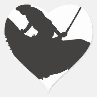 Polo Pony Silhouette Heart Sticker