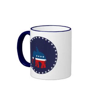 Polo republicano taza a dos colores
