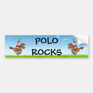 polo rocks / rider and horse bumper sticker