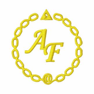 Polo rojo logotipo AF bordado amarillo
