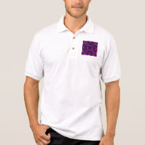 Polo Shirt - Fractal Pattern Purple Blue Pink