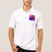 Polo Shirt - Psychedelic Fractal pink red purple