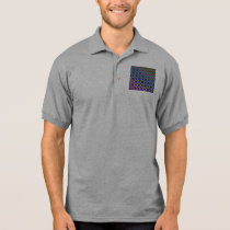 Polo Shirt - Rainbow Mandala Fractal Pattern