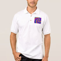 Polo Shirt - Rainbow Swirl Fractal Pattern