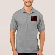 Polo Shirt- Retro Fractal Pattern red black yellow