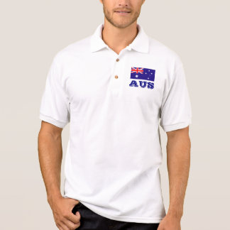 Polo shirt with Australian flag   Australian AUS