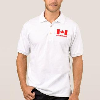 Polo shirt with Canada flag   Canadian maple leaf