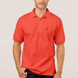 Polo shirt with tall ship image