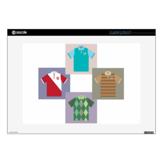 "Polo Shirts vectors 15"" Laptop Skins"
