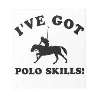 polo skill gift items notepad