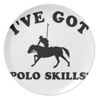 polo skill gift items dinner plate