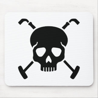 Polo skull mouse pad