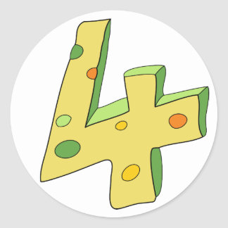 Polo verde 4 pegatinas del cumpleaños (redondos) pegatina redonda
