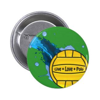 Polo vivo del amor - botón del water polo pin