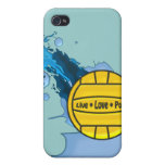 Polo vivo del amor - caso del iPhone 4 del water iPhone 4 Carcasas