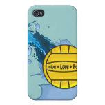 Polo vivo del amor - caso del iPhone 4 del water p iPhone 4 Carcasas