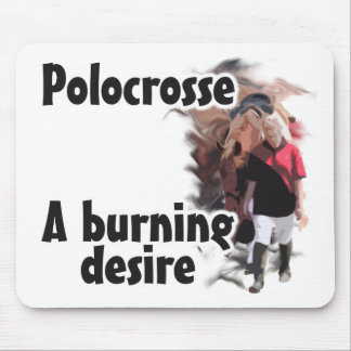 Polocrosse Player Walkiing Horse - Burning Deisre Mouse Pad
