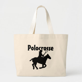 Polocrosse (silhouette) large tote bag