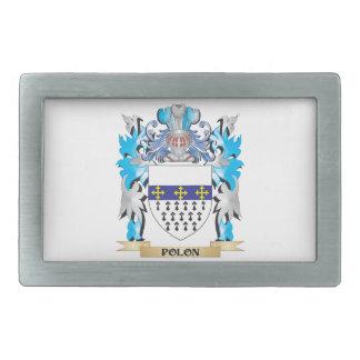 Polon Coat of Arms - Family Crest Rectangular Belt Buckle