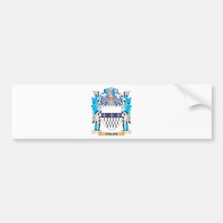 Polon Coat of Arms - Family Crest Bumper Stickers