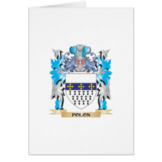 Polon Coat of Arms - Family Crest Greeting Cards