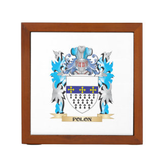 Polon Coat of Arms - Family Crest Desk Organizer