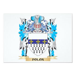 "Polon Coat of Arms - Family Crest 5"" X 7"" Invitation Card"