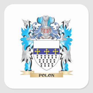 Polon Coat of Arms - Family Crest Square Sticker