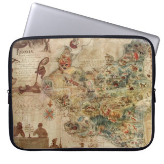 POLONIA ANTIQUE MAP OF POLAND COMPUTER SLEEVE