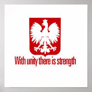 Polonia-Con fuerza de la unidad Póster
