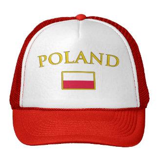 Polonia de oro gorras
