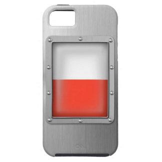 Polonia en acero inoxidable funda para iPhone SE/5/5s
