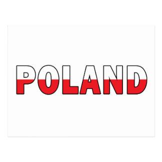 Polonia en colores polacos de la bandera postal