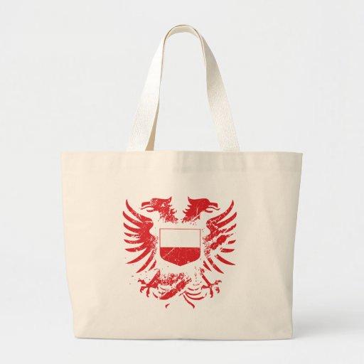 Polonia Grunged Bolsa Tela Grande