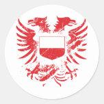 Polonia Grunged Pegatinas