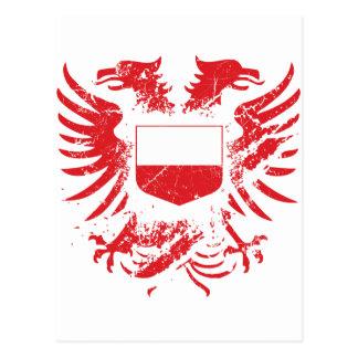 Polonia Grunged Tarjeta Postal