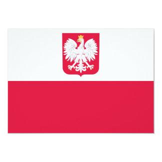 """Polonia Invitación 5"""" X 7"""""""