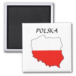 "Polonia MapFlag ""Polska "" Imanes Para Frigoríficos"