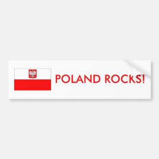 Polonia oscila a la pegatina para el parachoques etiqueta de parachoque